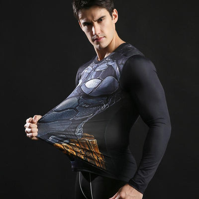 T-shirt Musculation Batman Long