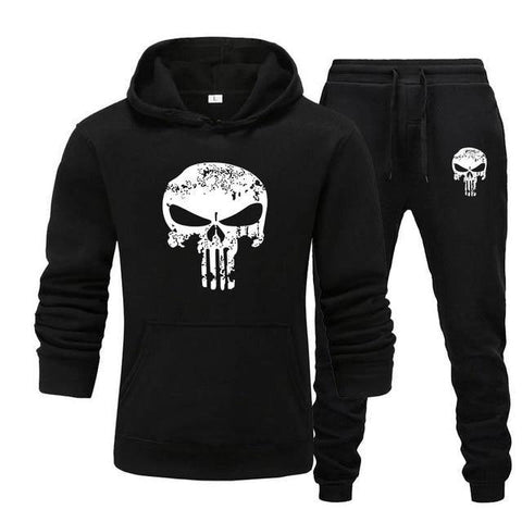 Sweat à capuche et Jogging Musculation Punisher noir
