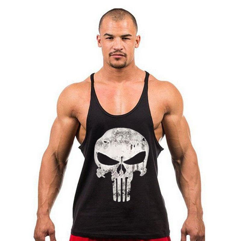f87c4ad2adc6bf Stringer de Sport Fitness et Musculation The Punisher pour Homme ...
