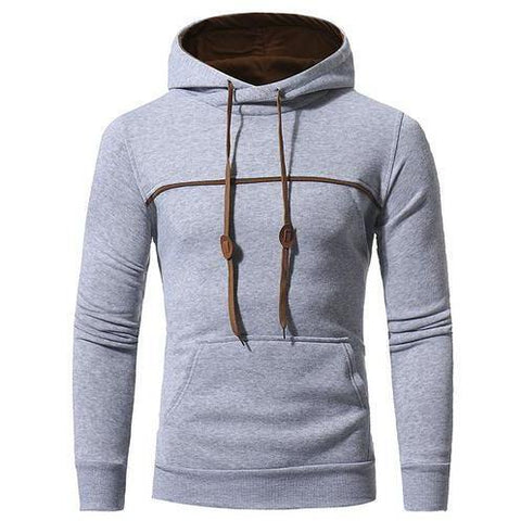 Sweat à capuche gris clair