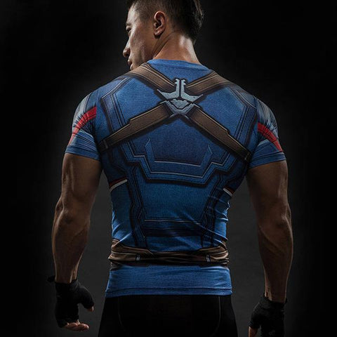 T-shirt Musculation Captain America