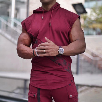Sweat sans manche bordeaux