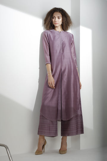 Dust Purple Tunic Set