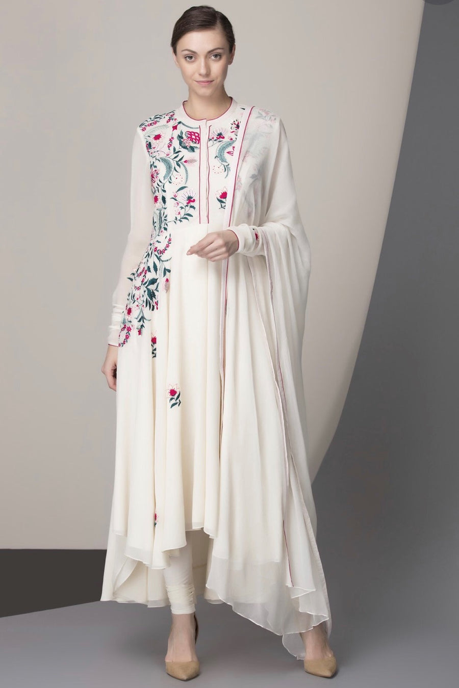Ivory Embroidered Suit Set