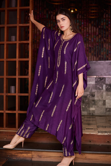 Purple Arrow Kaftan and Palazzo