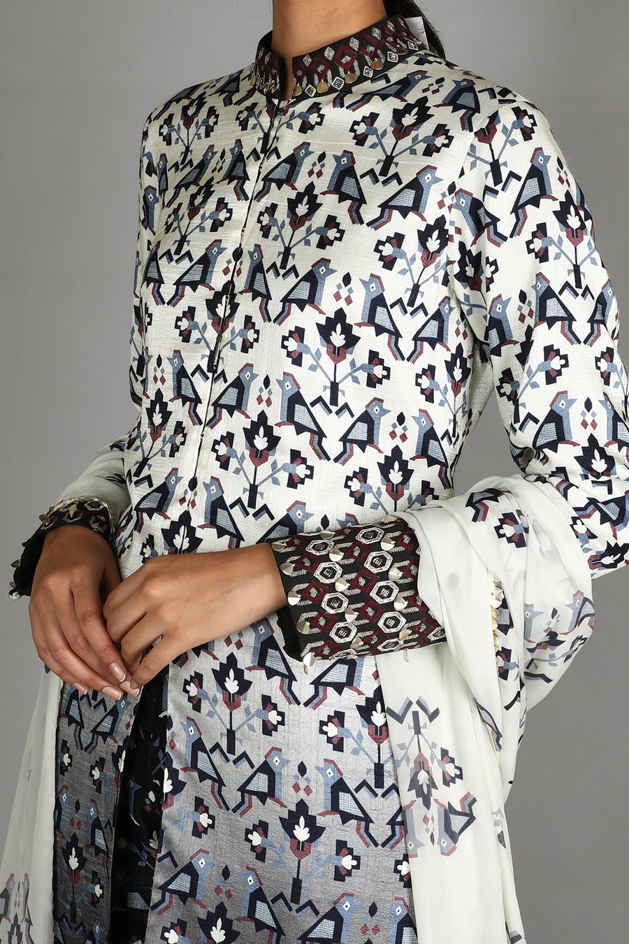 Ombre printed jacket set