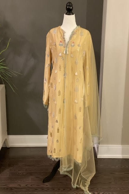 Yellow Straight Kurta Set