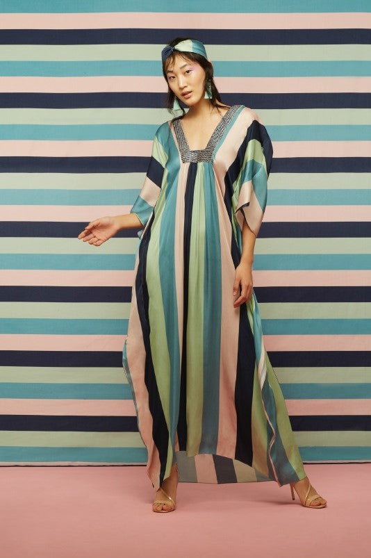 Bold Striped Kaftan