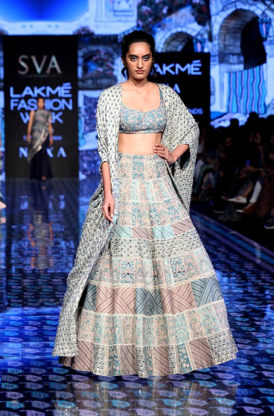 Patchwork Embroidered Lehenga