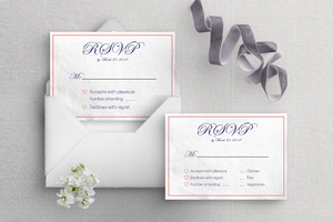 image about Printable Rsvp Card identified as Printable RSVP Card Template - Blue Coral - Harper (Prompt