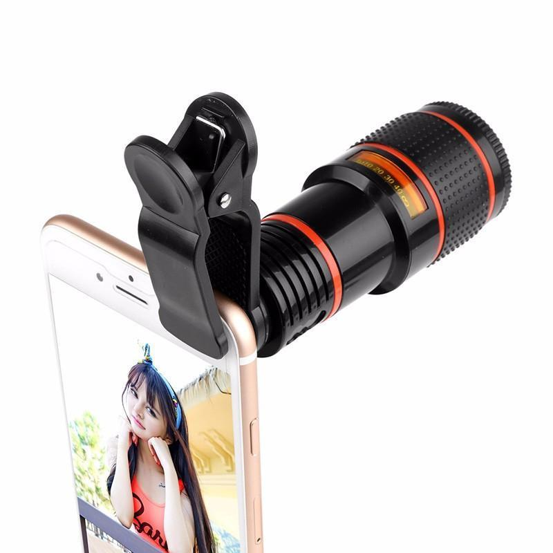 Zoomy - HD 12X Clip-on Optical Telescope Zoom Lens