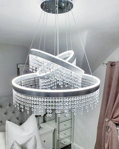 Julianna 3 Ring Modern Crystal Chandelier