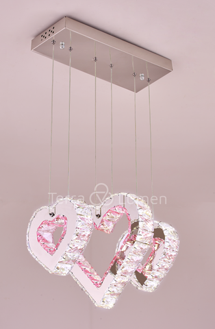 Heart Collection 3-Pendant Hanging Light Fixture | Easy Fit