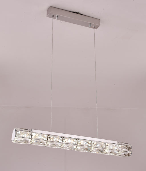 Crystal Loop LED Smart Kitchen Island / Table Pendant | Easy Fit