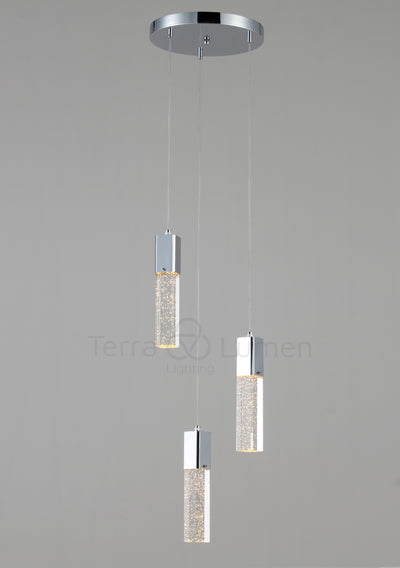 Libra 3 Pendent Cluster Light , Hallway and Bedroom
