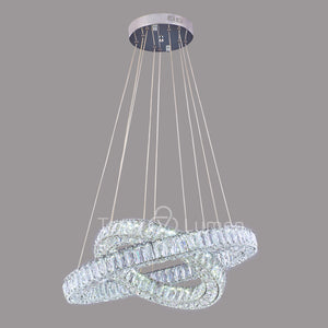 Julianna 2 Ring Modern Crystal Chandelier | Easy Fit