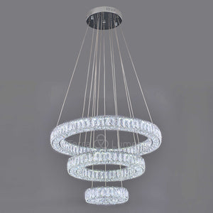 Julianna 3 Ring Modern Crystal Chandelier | Pre-order now