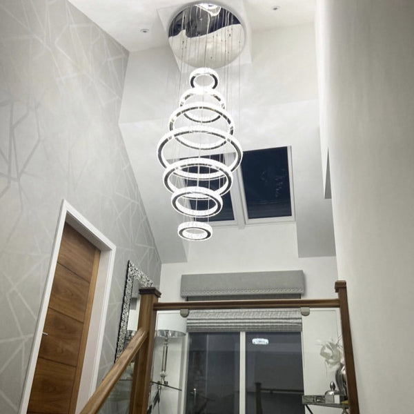 Julianna 7-Ring Grand Morden Chandelier