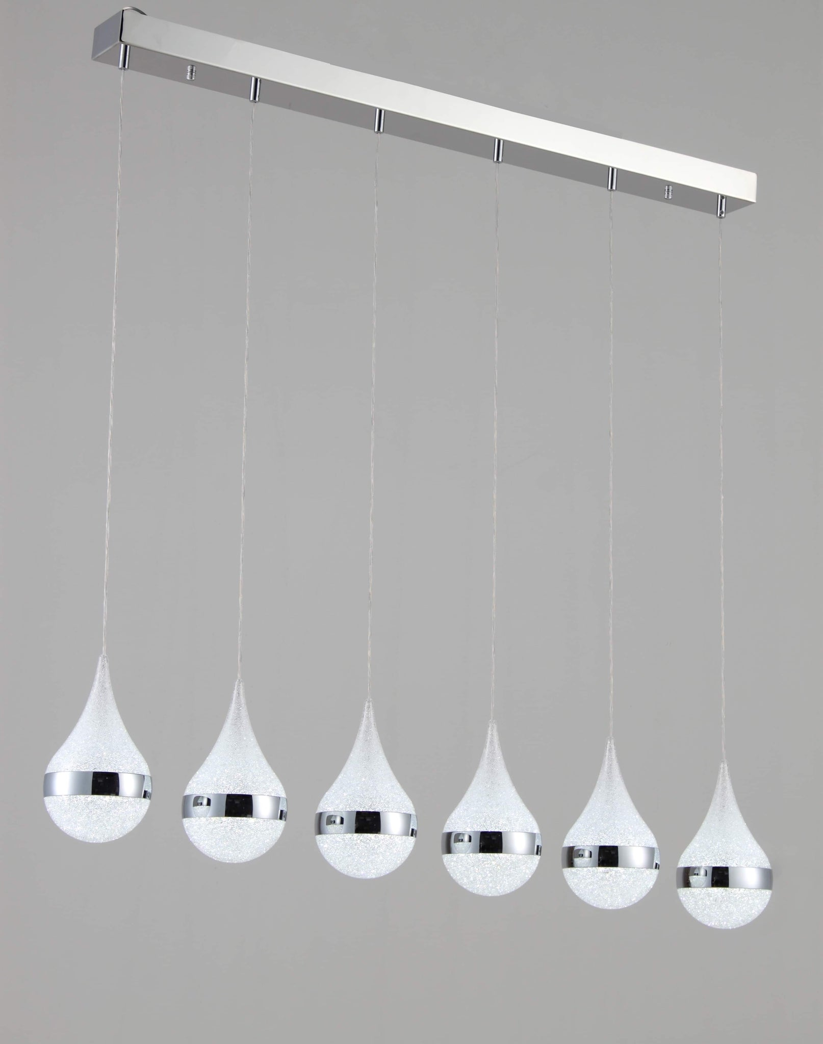 The Rainfall 6-Pendant cluster Chandelier