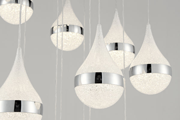 The Rainfall 19-Pendant Spiral Chandelier