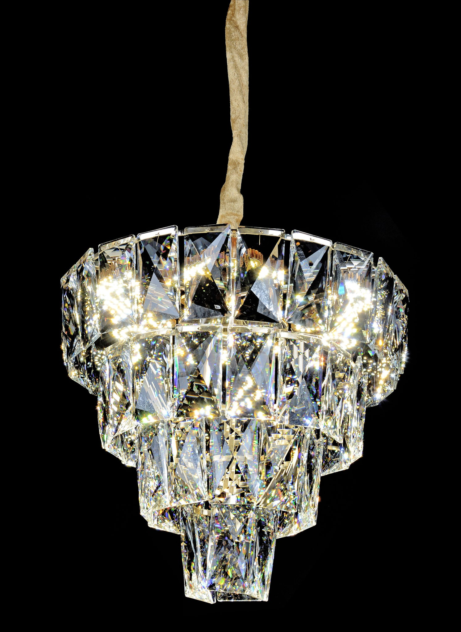 Miranda 4-Tier Crystal Chandelier