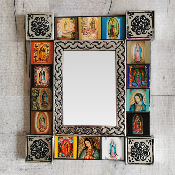 Virgen de Guadalupe Tiled Mirror