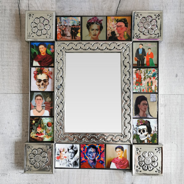Frida Kahlo Tiled Mirror