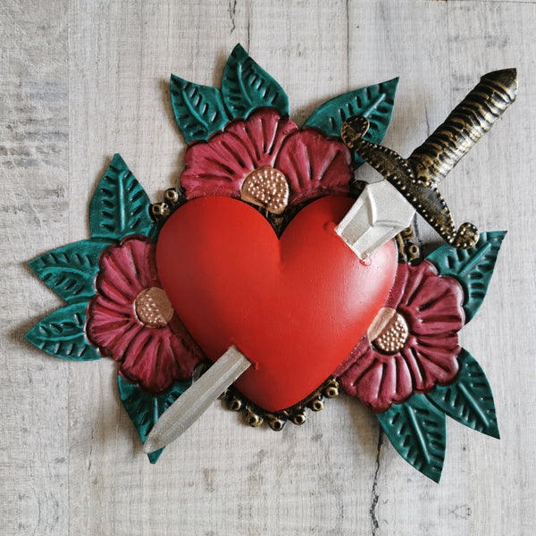 Tin Heart with Sword