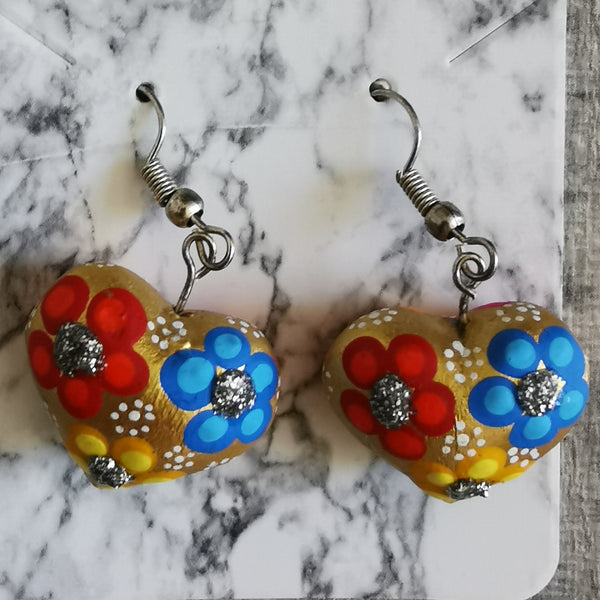 Heart Alebrije Earrings