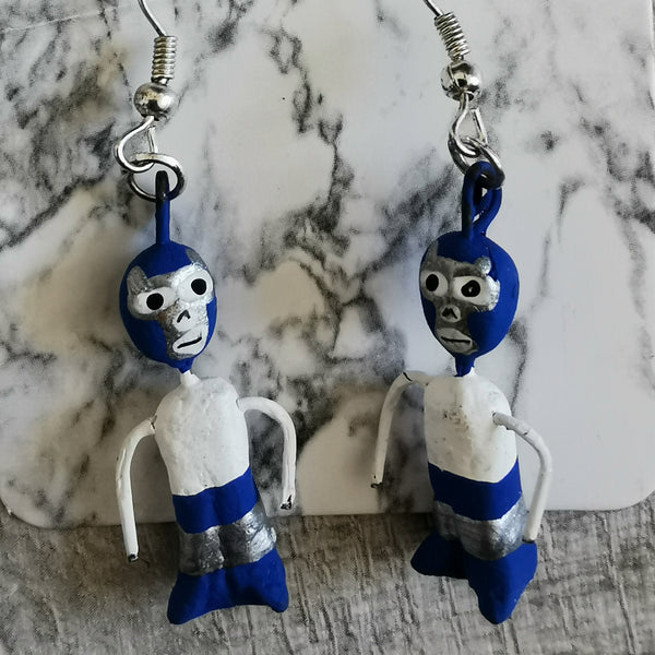 Mexican Wrestler Earrings