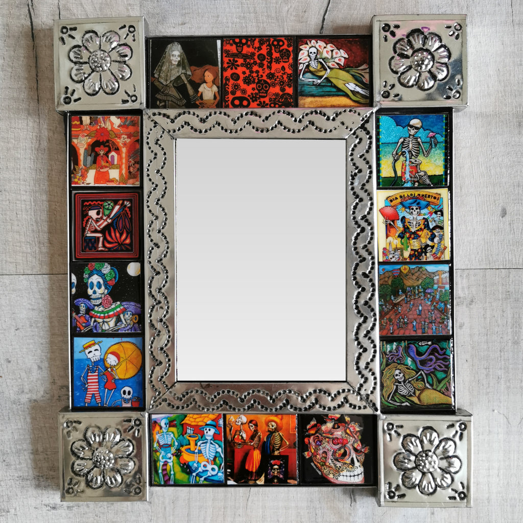Day of the Dead Tiled Mirror