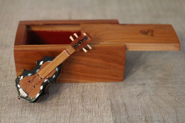 Mini violin & handcrafted box
