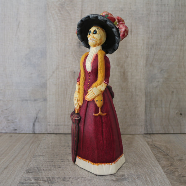 Hand painted ceramic Mexican catrina day of the dead