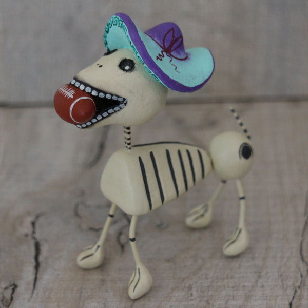 Dog skeleton figurine