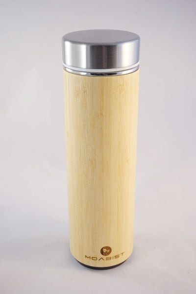 Bamboo Thermo Bottle Stainless Steel Lid 18 oz