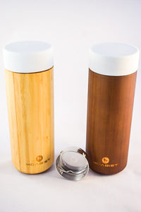 Bamboo Thermo Bottle, Silicone Lid 10 oz