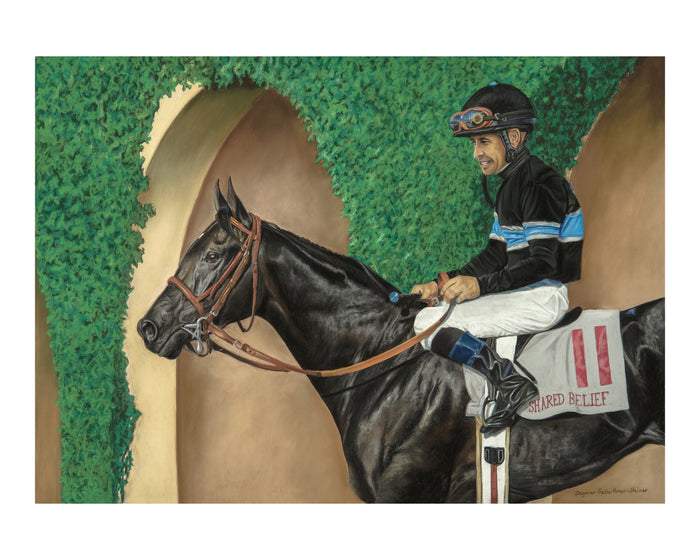 """Del Mar Memories"", Shared Belief, Hall of Fame Jockey Mike Smith up"