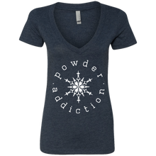 Powder Addiction Snowcats Deep V-Neck T-Shirt