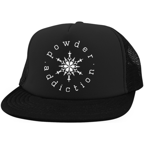 Powder Addiction Trucker Hat with Snapback