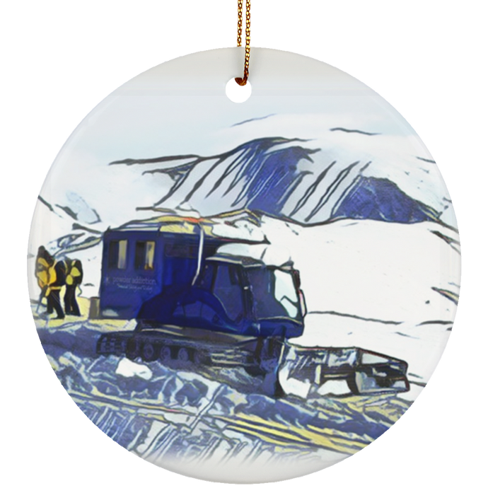 Powder Addiction Snowcats Limited Edition 2017 Ceramic Circle Ornament
