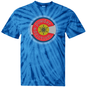 "Powder Addiction Snowcats ""That's a Colorado Kid"" Tie Dye T-Shirt"