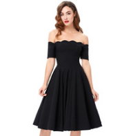 ANASTASIA Black Off-Shoulder Dress