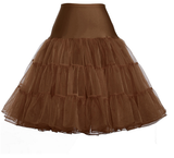 Vintage-Style Petticoat COFFEE BROWN