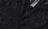 DAHLIA Black Twinset Lace Overlay Dress
