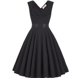 MAYA Black Ruched Sweetheart Dress