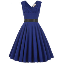 MAYA Blue Ruched Sweetheart Dress
