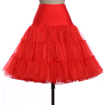 Vintage-Style Petticoat RED