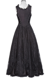 Renaissance Black Lace & Velvet Dress