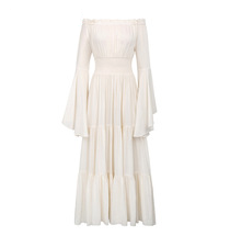 Renaissance Ivory Off Shoulder Dress