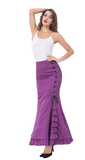 Steampunk Victorian-Style Purple Mermaid Skirt